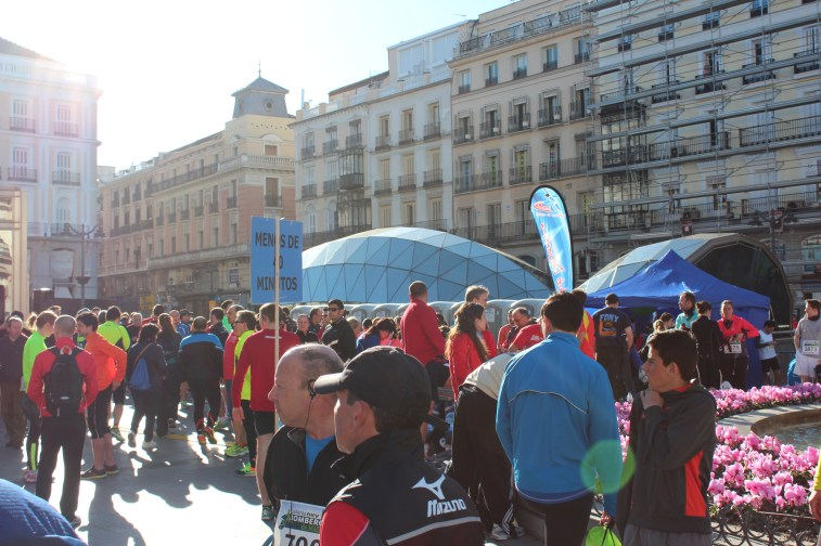 La Puerta del Sol, le départ de la carrera