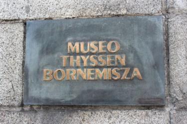 On arrive au Thyssen