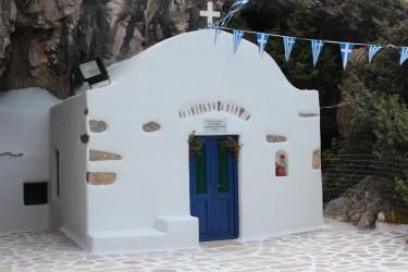 Chapelle au départ de la grotte d'Antiparos