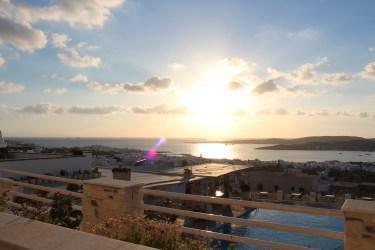 coucher de soleil depuis notre terrasse