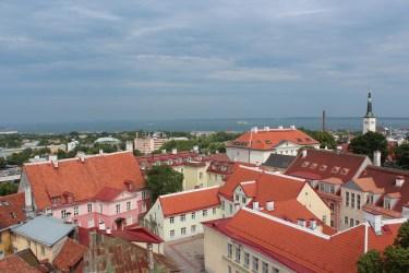 vue sur les toits rouges de Tallin