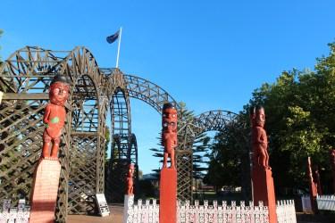 les statues maories de Rotorua