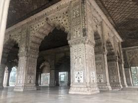 A l'intérieur du fort de Delhi