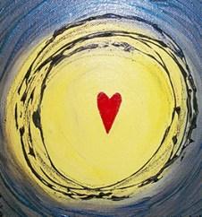 """SOLD Heart Art 8"""" X 8"""""""