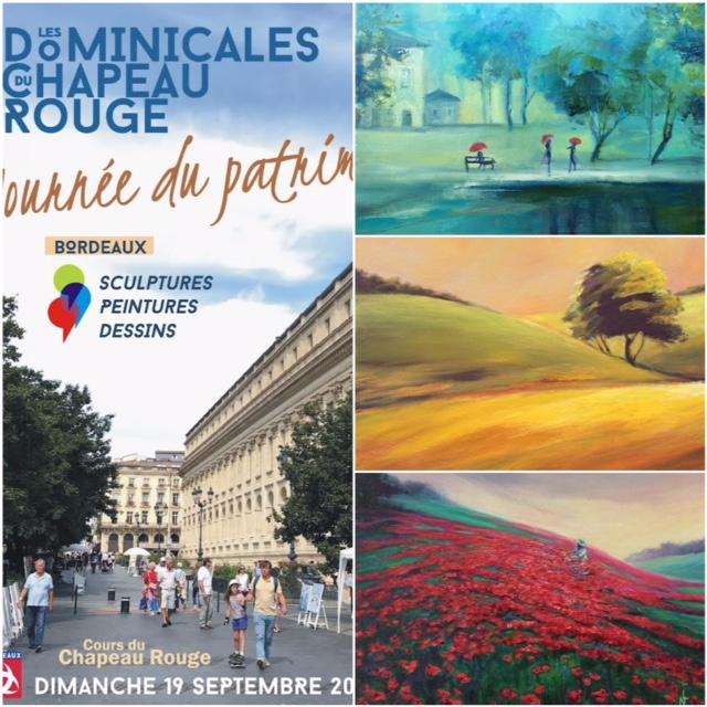 mes peinture à l'huile, mes expositions de peinture en plein aire, exposition de toiles à Bordeaux