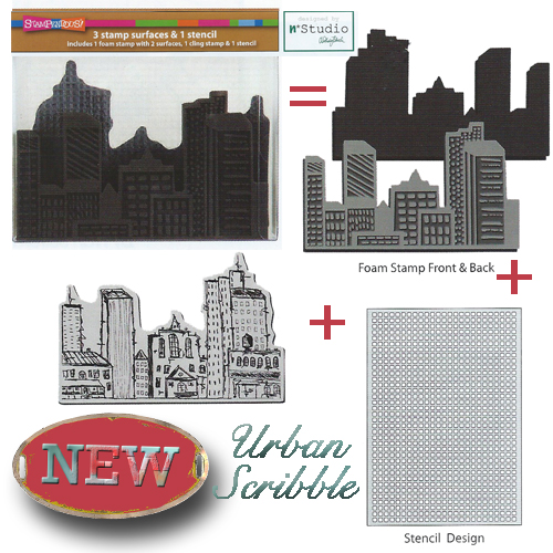 Urban Scribble Foam Stamp Set
