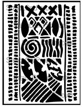 Batik Stencil Nathalie Kalbach