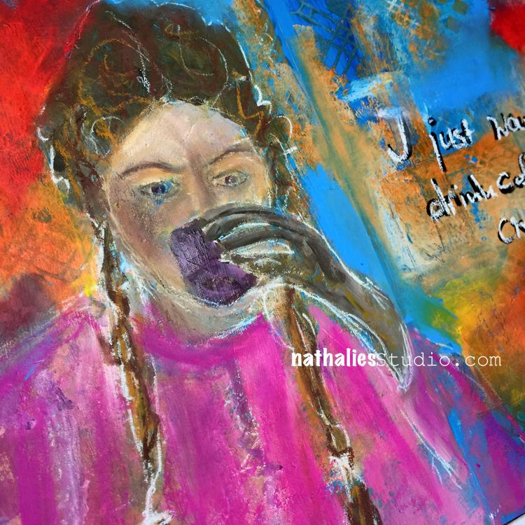 I Just Want Art Journal Spread N Studio