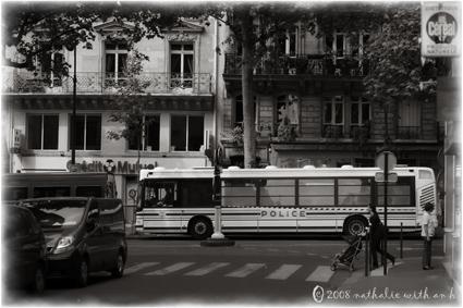 Bus loads of cops