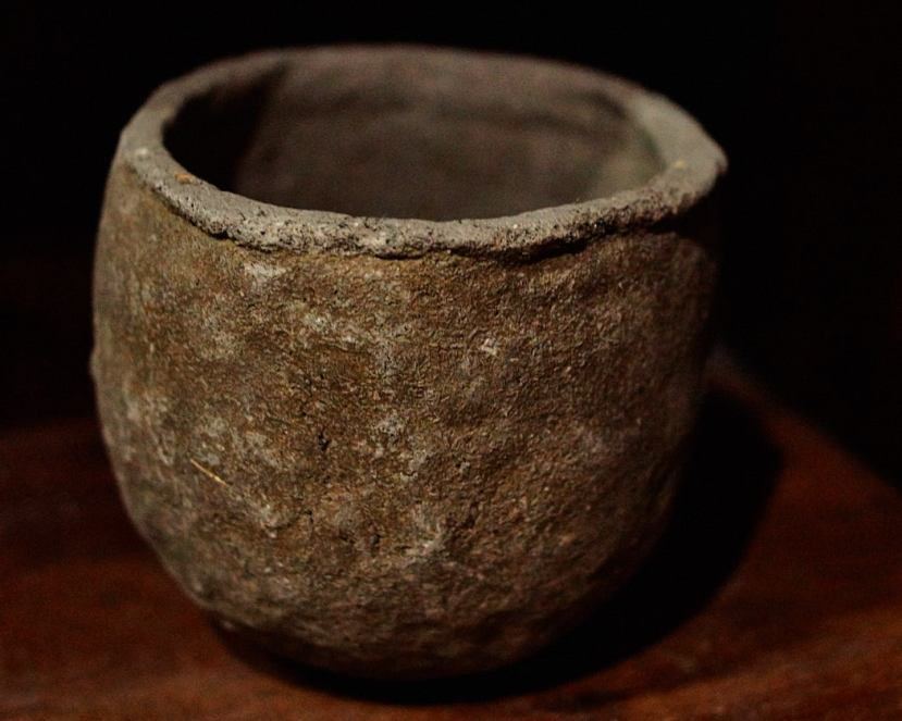Earthen jar used for melting bronze at Ban Bu Bangkok Thailand
