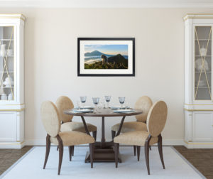 Photo of fine art print on display.