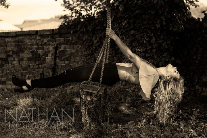 Lana Scott on swing