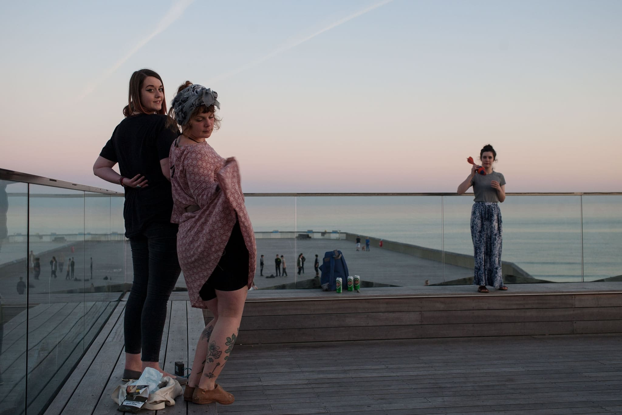 Dot, Francesca on the pier