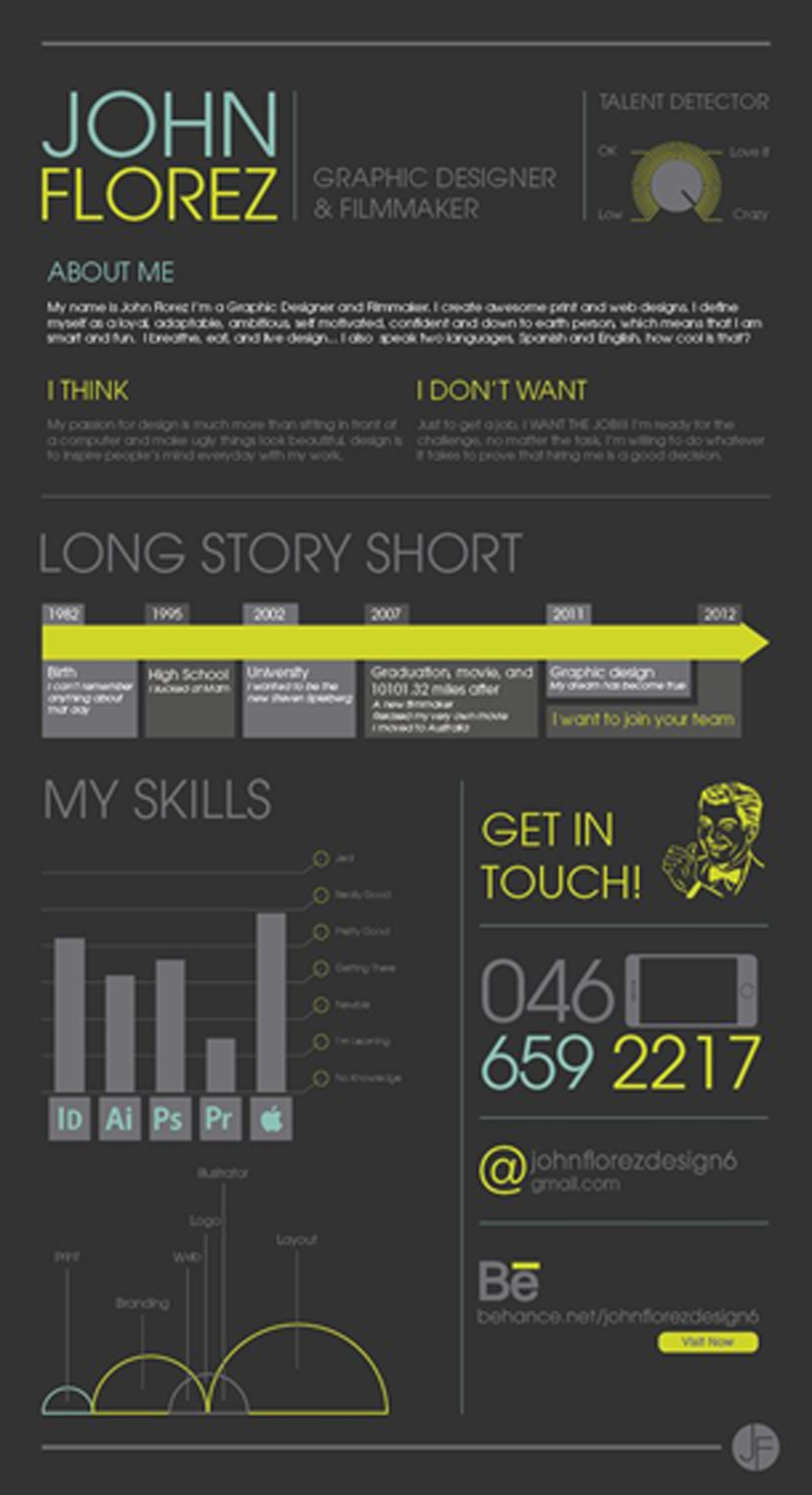 infographic resume information