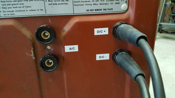 All four connectors installed and labeled