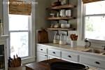 beautiful-reclaimed-wood-kitchen-cabinet-design-white-modern-stained-wood-kitchen-cabinet-with-brown-ceramic-top-3-tier-rustic-wall-kitchen-shelf-2-clear-glass-jar-white-ceramic-jar-varnished-wooden-k