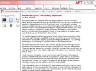 nathaniel stern: ArtThrob getAway Experiment review