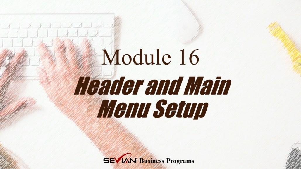 Header and Main Menu Setup, Digital Products Platform, Nathan Ives