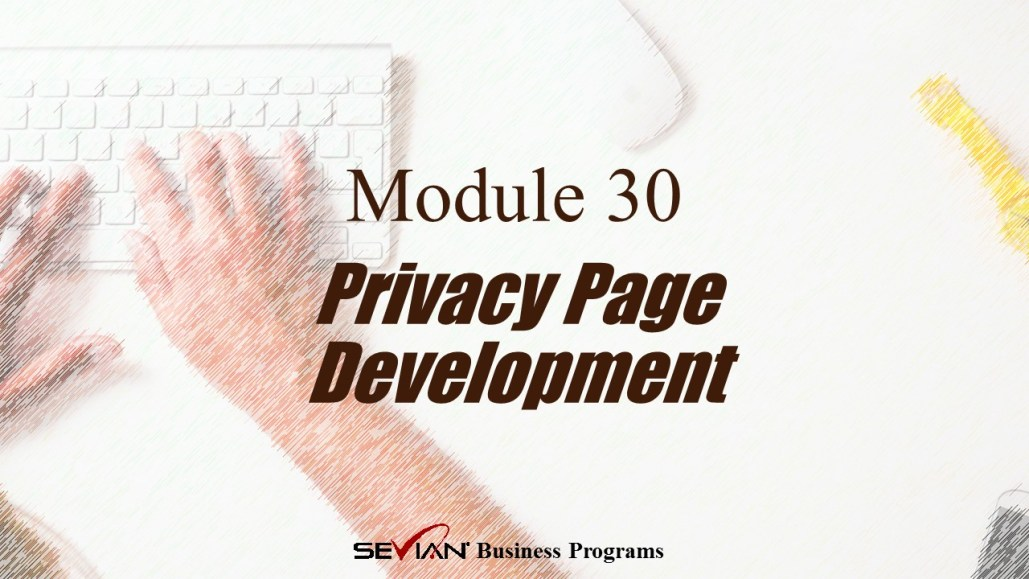 Privacy Page Development, Digital Products Platform, Nathan Ives
