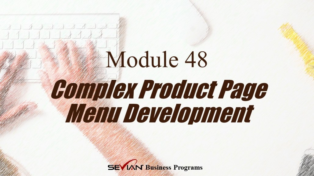 Complex Product Page Menu Development, Digital Products Platform, Nathan Ives