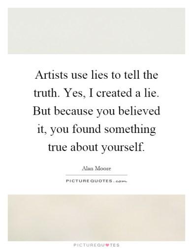 artists use lies