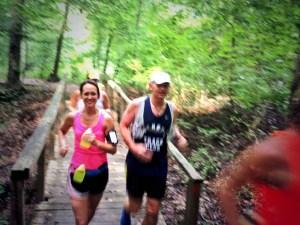 Amanda running Medoc Moutain