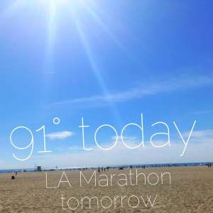 LA Marathon is tomorrow
