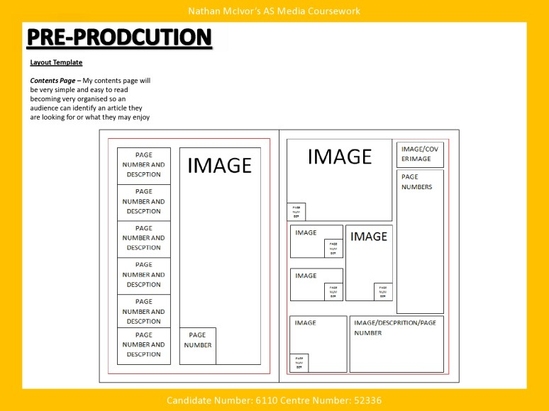 Media Music Magazine Pre Production Layout Template