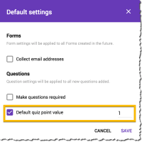 Quiz Point Values in Google Forms