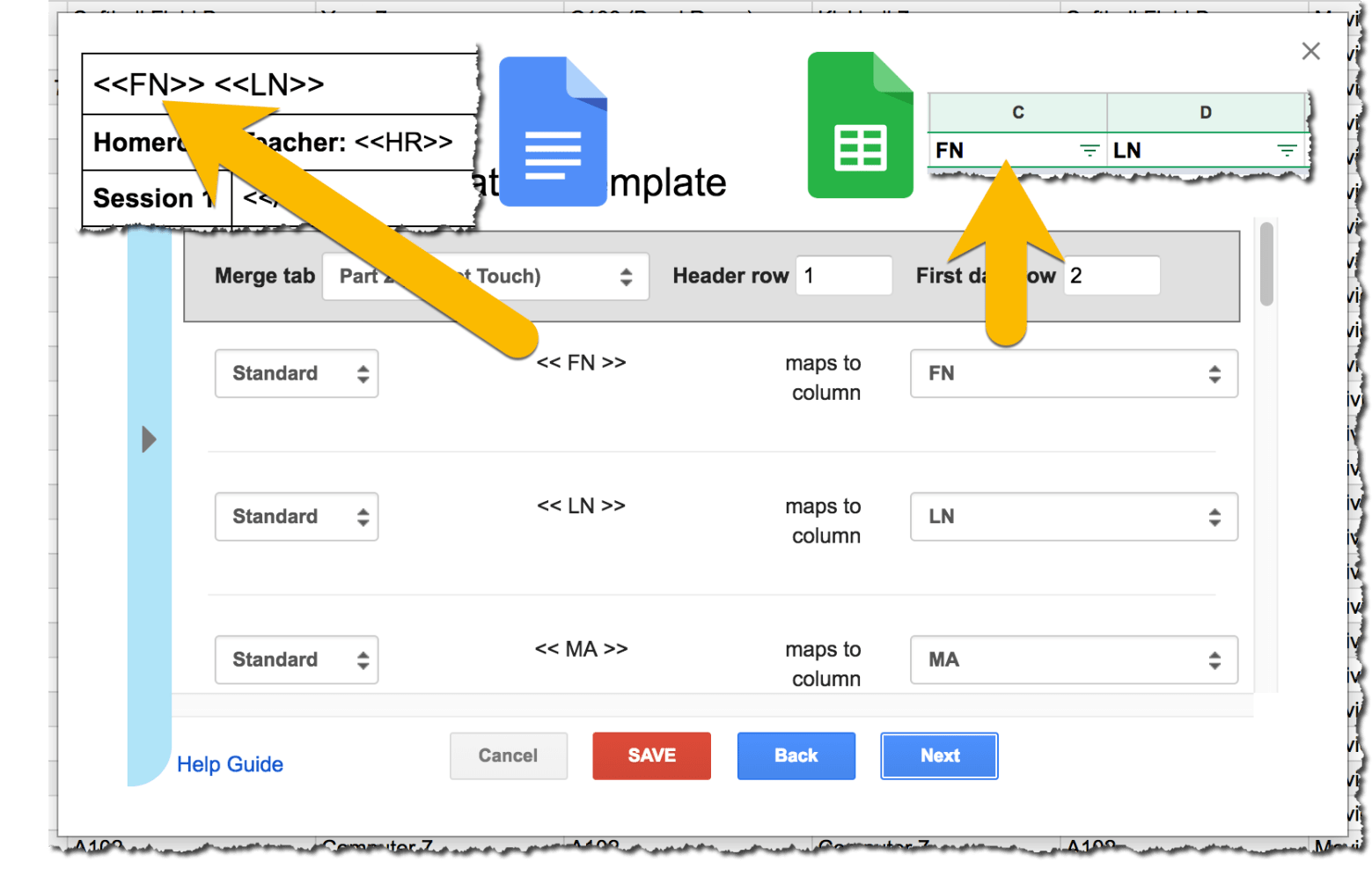 How to do a mail merge in Google Docs