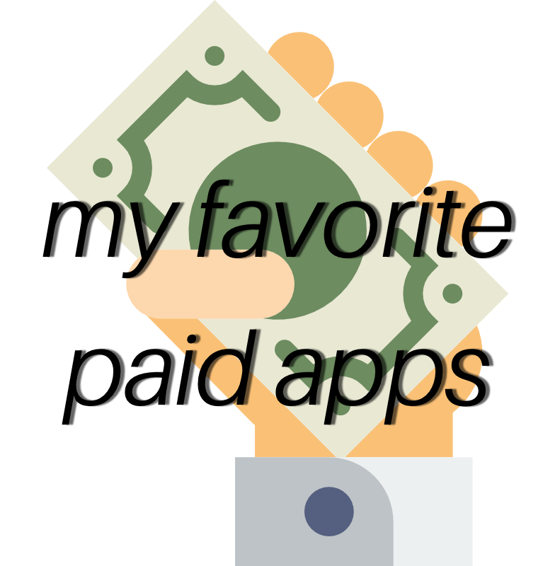 My favorite paid apps for content creation