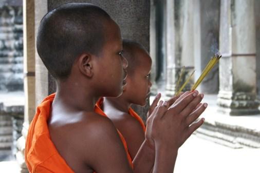 Monks, Angkor Wat, Cambodia