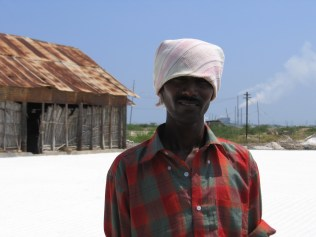 Salt pan worker, Tuticorin, Tamil Nadu, India