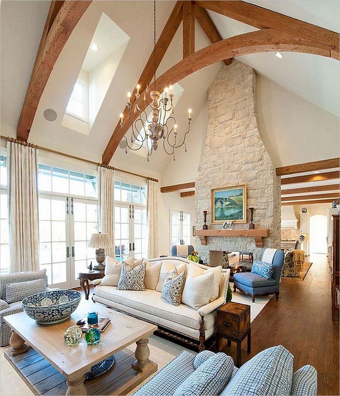 Vaulted Ceiling Living Room Design Ideas  Nathan Seppala