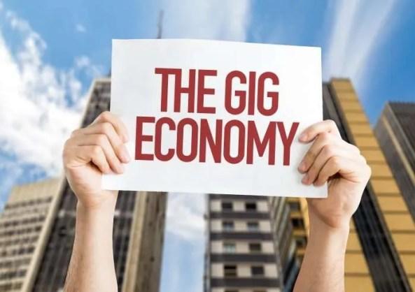 the gig economy sign