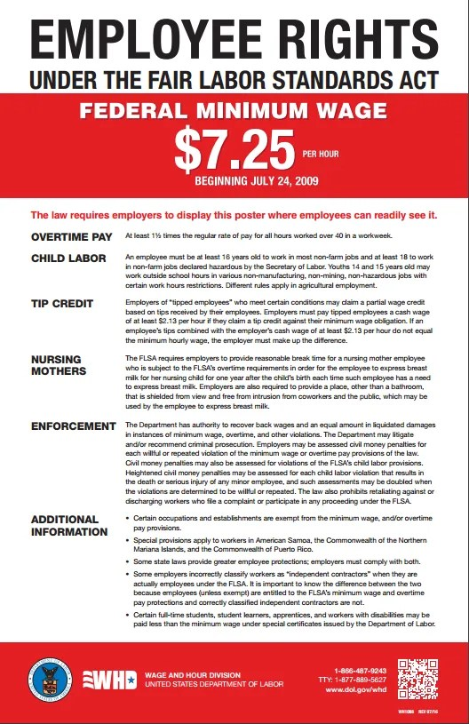 Us department of labor issues new flsa and eppa posters employee zafrullah share information about the new fair labor standards act flsa posters issued by the united states department of labor the poster includes a publicscrutiny Gallery