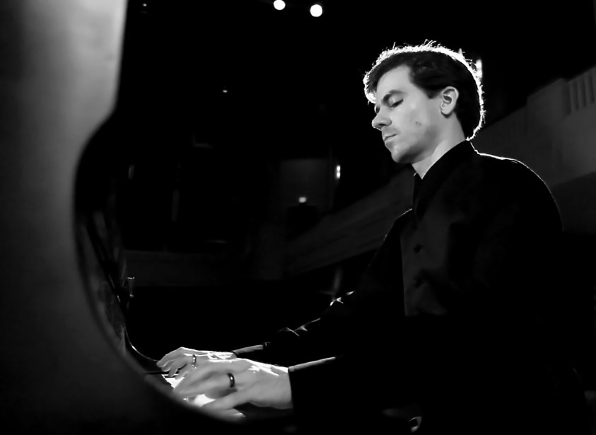 nathan shirley performer composer at piano pianist concert recording concert stage