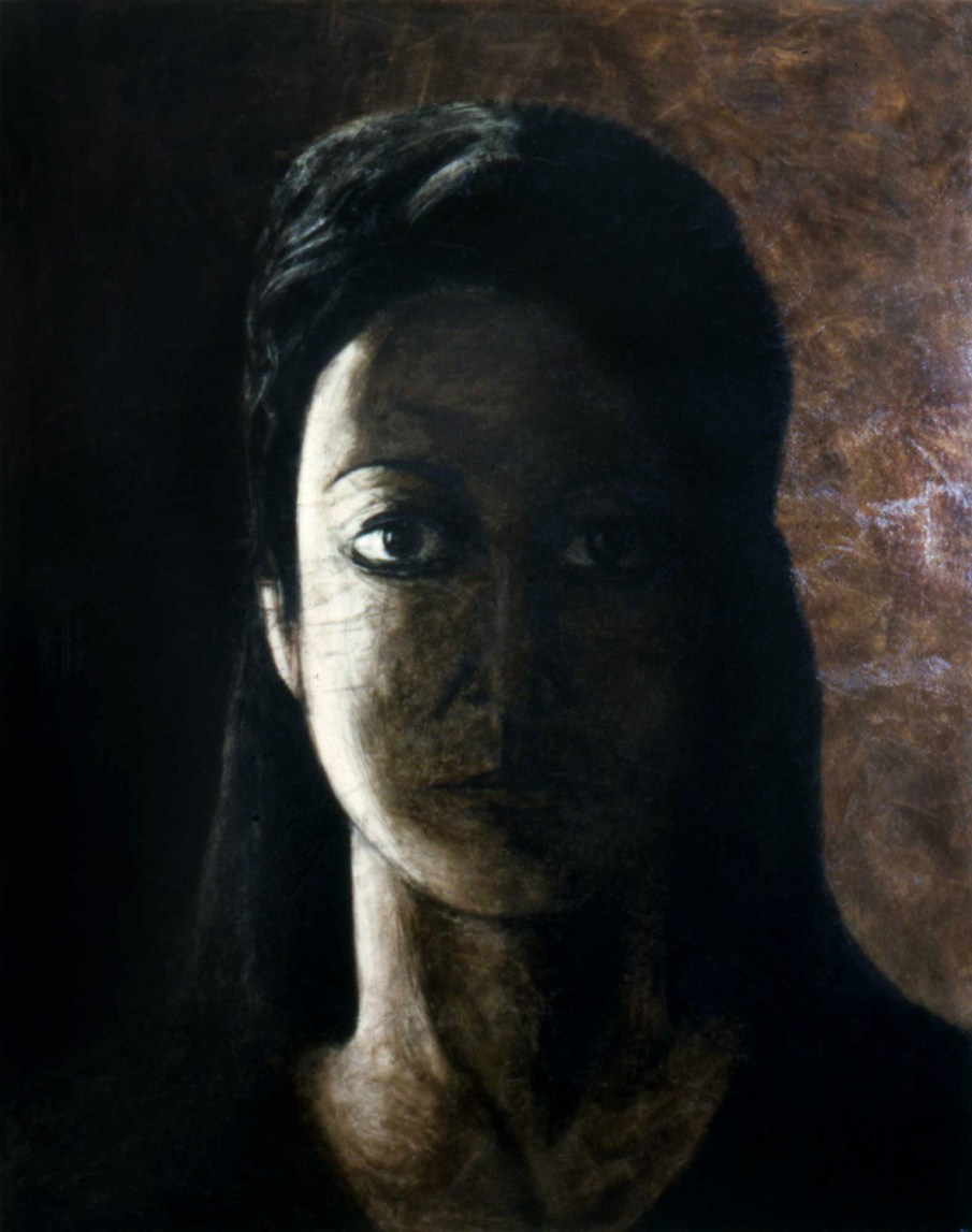 Woman In Shadow, oil on canvas, 60 X 48, 1991, private collection