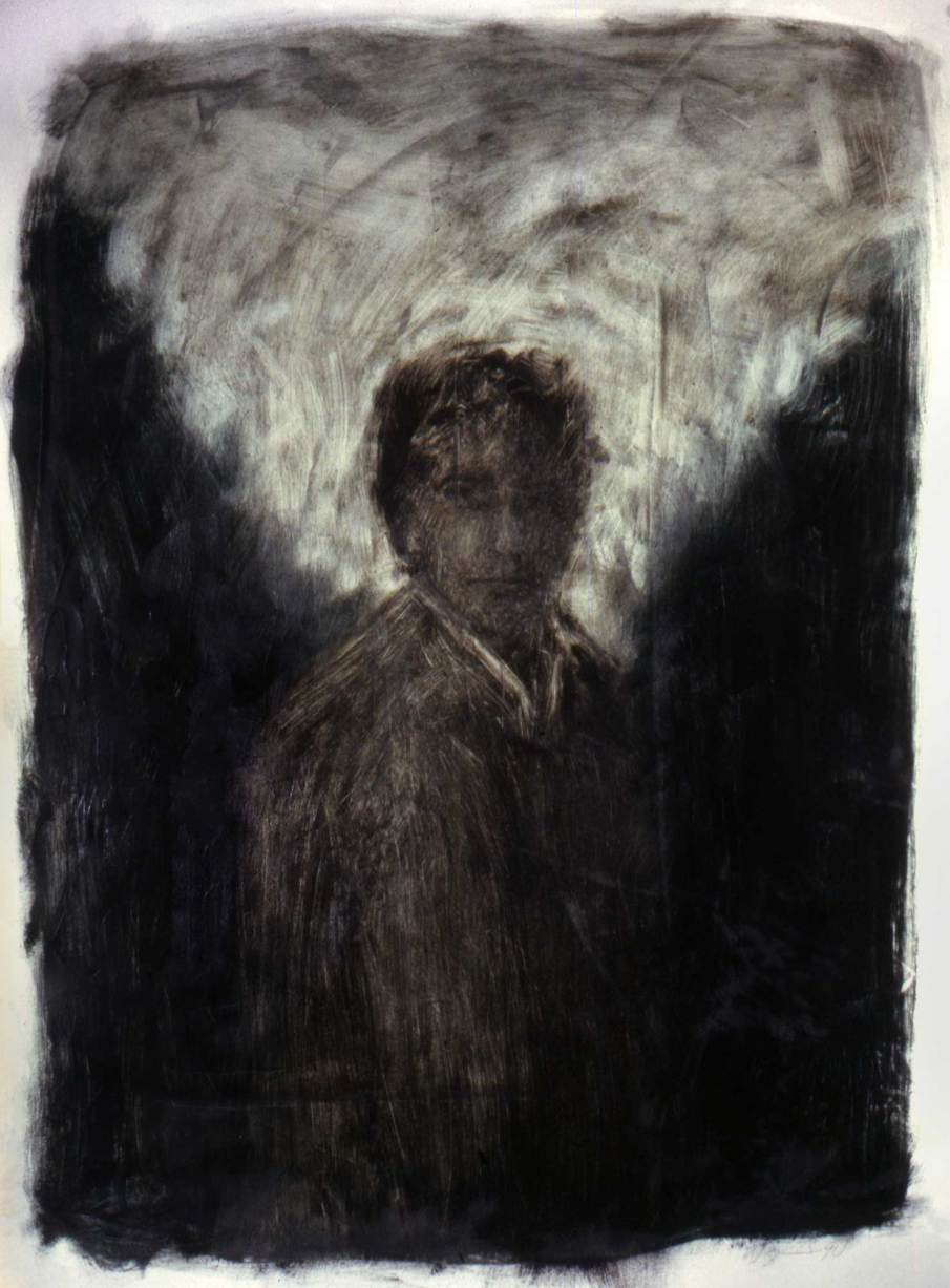 Portrait of CP, oil on paper, 30 X 22, 1991, private collection