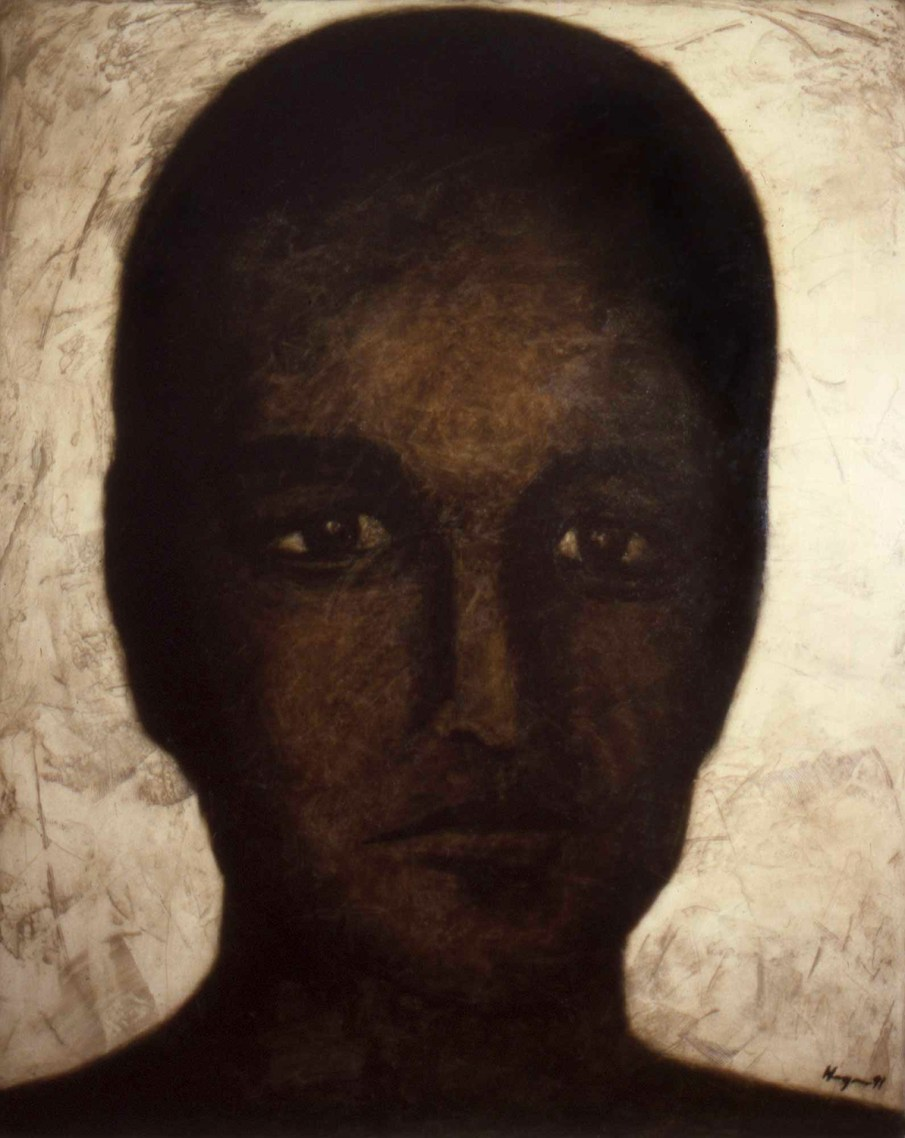 Icon, oil on canvas, 60 X 48, 1991, private collection