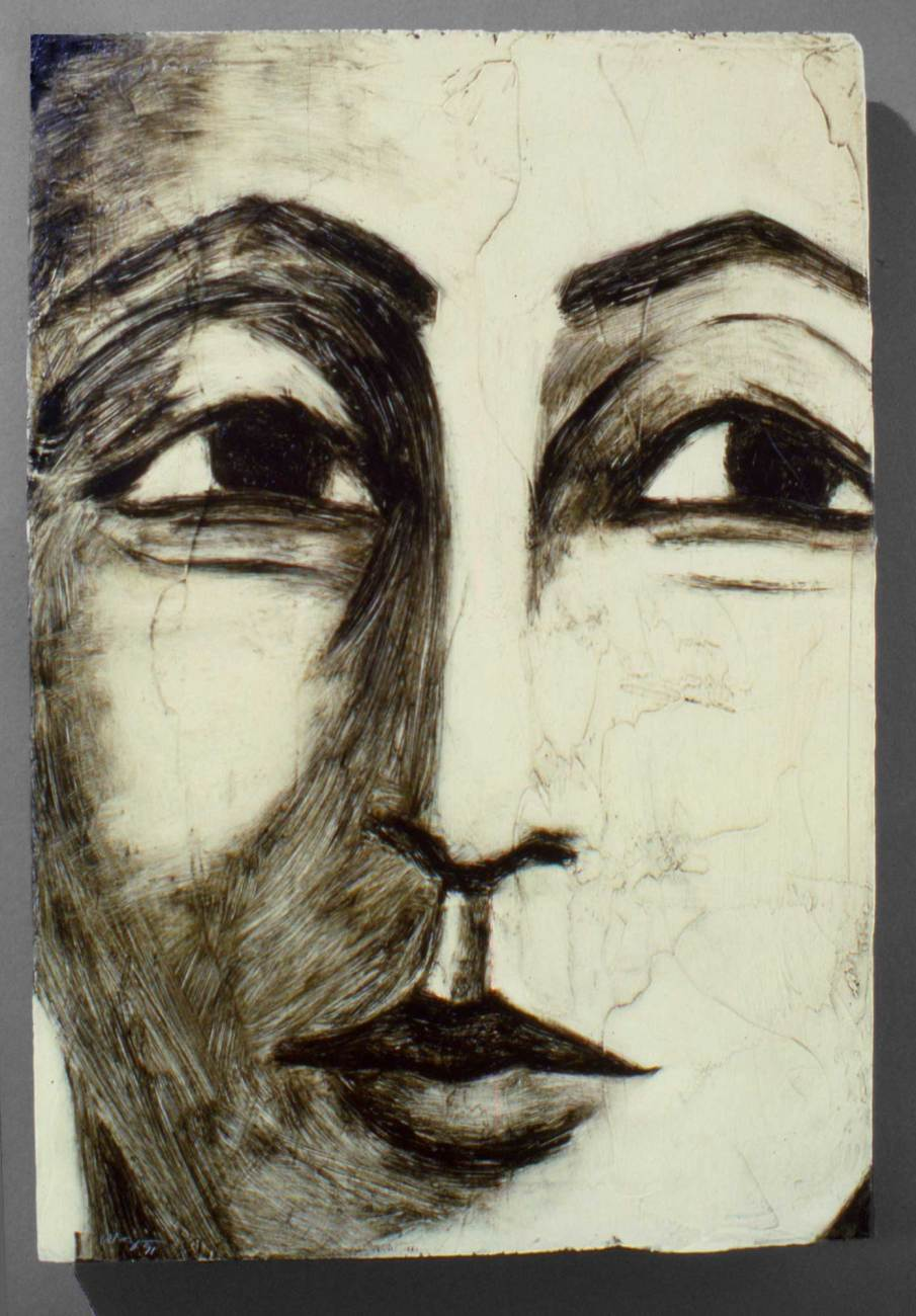 Face No. 2, oil on wood, 12 X 8, 1991, private collection