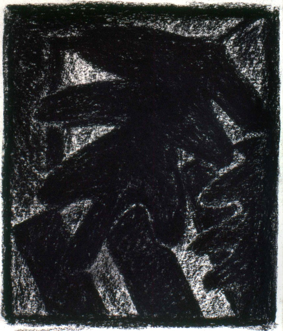 Leaves, Table and Window, pastel on paper, 16 X 14, 1987