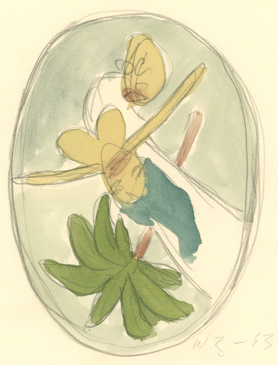 The Garden No. 10, watercolor on paper, 9 X 6, 1993