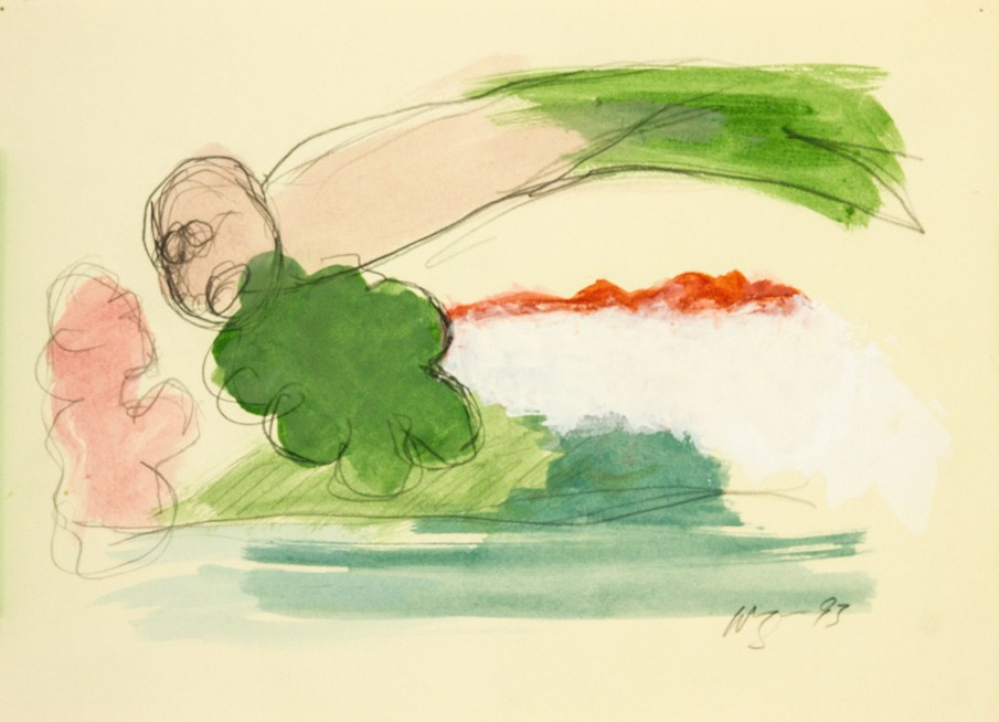 The Garden No. 7, watercolor on paper, 10 X 13, 1993