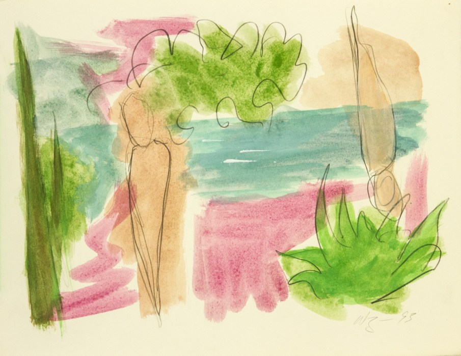 The Garden No. 5, watercolor on paper, 10 X 13, 1993