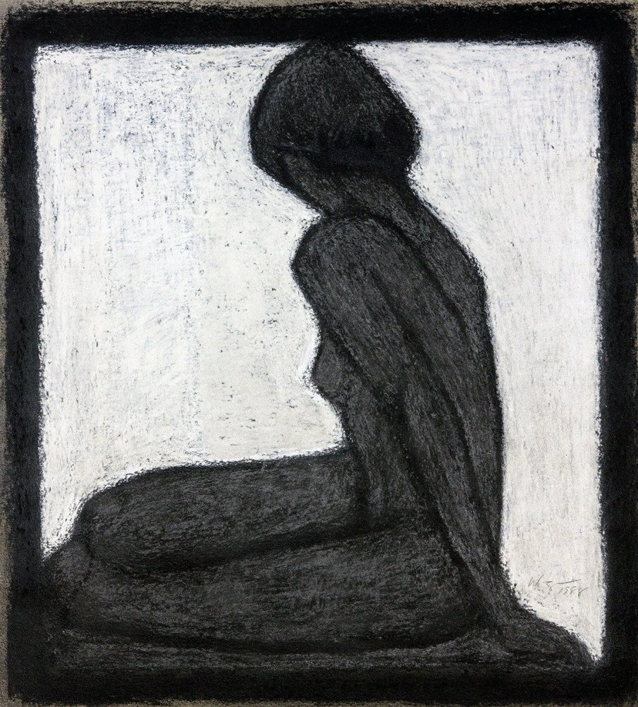 Bather, pastel on paper, 14 X 11, 1988