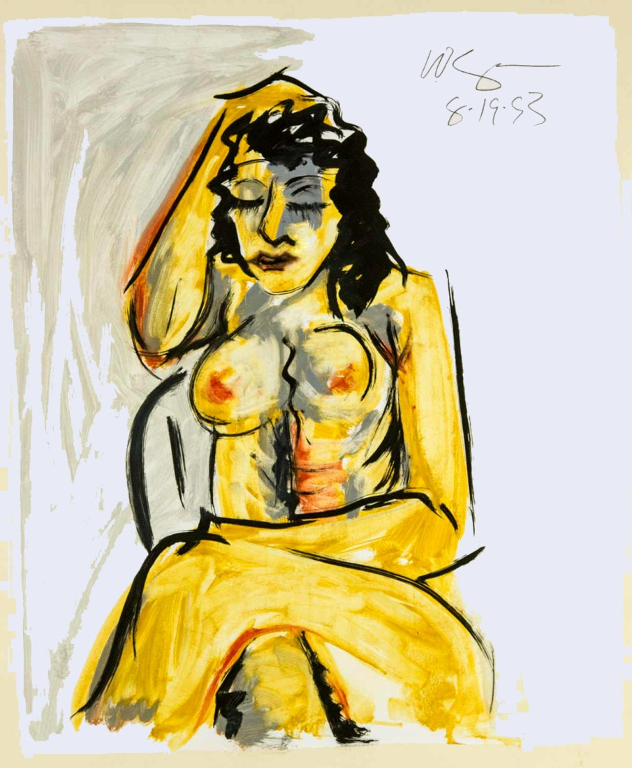 Seated Nude. oil on paper, 30 X 22, 1993