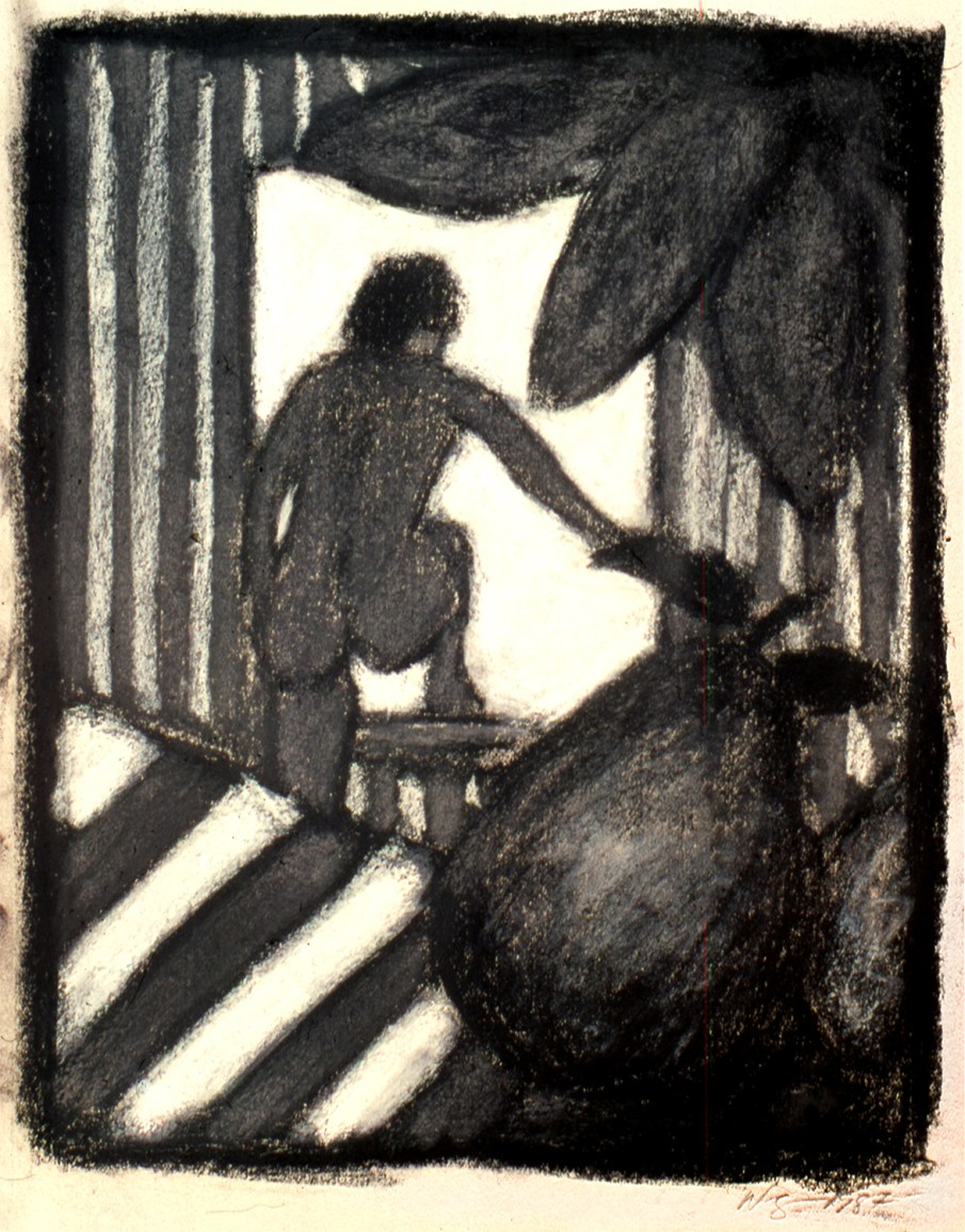 Woman at a Window, pastel on paper, 14 x 16, 1987. Private Collection