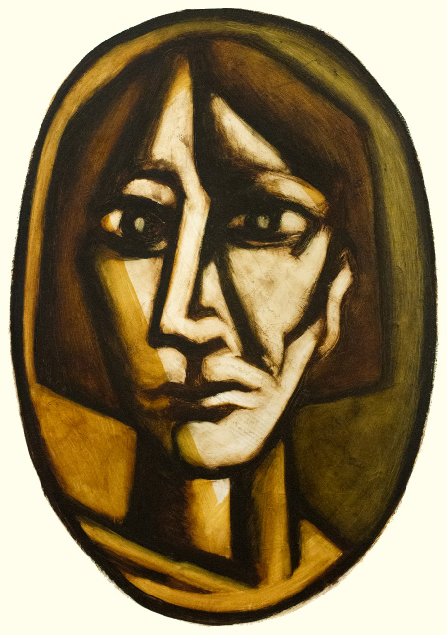 Face No. 1.11, oil on paper, 30 X 22, 1999