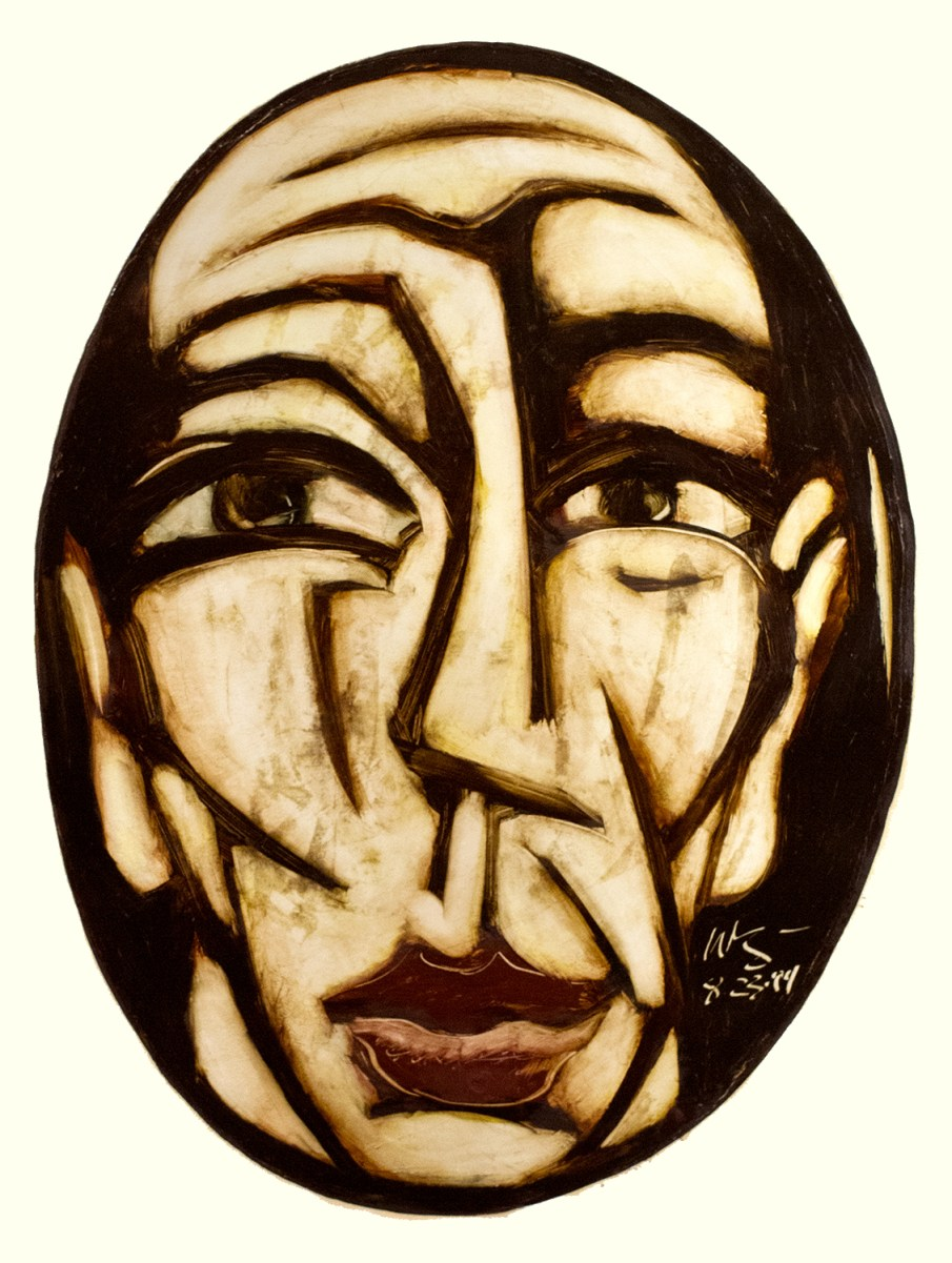Face No. 1.16, oil on paper, 30 X 22, 1993